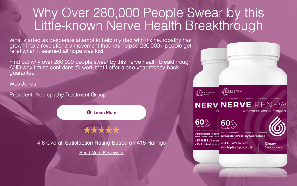 ▷ Nerve Renew Review: Does It Really Work? Read Before You Buy