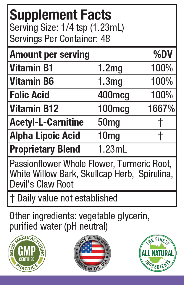 Ingredients in a single serving of Nervestra